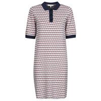 Abbigliamento Donna Abiti corti Tommy Hilfiger TH CUBE SHIFT SHORT DRESS SS Bianco / Rosso / Marine