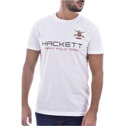 Abbigliamento Uomo T-shirt maniche corte Hackett maniche corte HM500461 - Uomo bianco