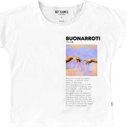 Abbigliamento Bambina T-shirt maniche corte Ko Samui Tailors Art Fresco T-shirt Bianco  KSUTE C36 FRESCO W Bianco