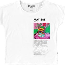 Abbigliamento Bambina T-shirt maniche corte Ko Samui Tailors Art Fauve T-Shirt Bianco  KSUTE C37 FAUVE WHT Bianco