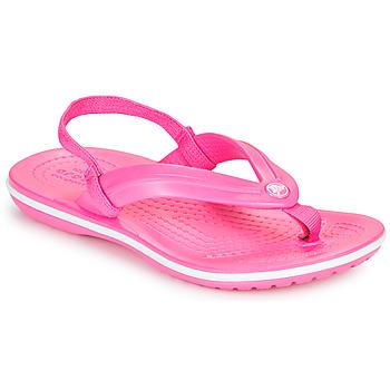 Scarpe Bambina Infradito Crocs CROCBAND STRAP FLIP K Rosa