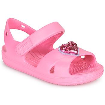 Scarpe Bambina Sandali Crocs CLASSICCROSSSTRAPCHARMSANDAL T Rosa