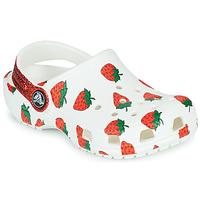 Scarpe Bambina Zoccoli Crocs CLASSIC FOOD PRINT CLOG K Bianco / Rosa