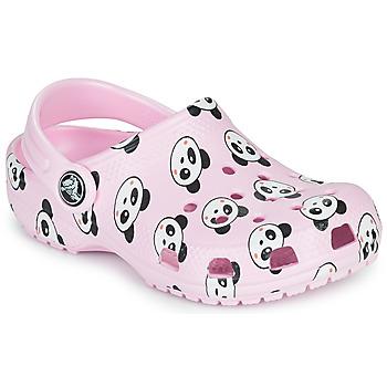 Scarpe Bambina Zoccoli Crocs CLASSIC PANDA PRINT CLOG K Rosa
