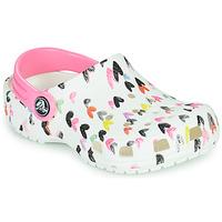 Scarpe Bambina Zoccoli Crocs CLASSIC HEART PRINT CLOG K Bianco