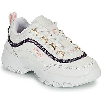 Scarpe Bambina Sneakers basse Fila STRADA A LOW JR Bianco / Beige