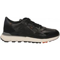 Scarpe Uomo Sneakers basse Santoni FRANC. 7 FORI PELLE WYATT nero