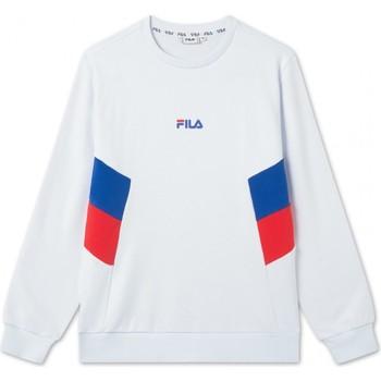 Abbigliamento Uomo T-shirts a maniche lunghe Fila Felpa  687481 Baker Crew Sweat Uomo bianco Bianco