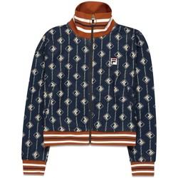 Abbigliamento Donna Felpe Fila Felpa  WOMEN HAMO AOP jacket 687862 donna Blu Blu