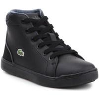 Scarpe Unisex bambino Sneakers alte Lacoste Explorateur Lace 317 1 Cac Nero