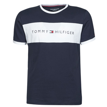 Abbigliamento Uomo T-shirt maniche corte Tommy Hilfiger CN SS TEE LOGO FLAG Marine / Bianco