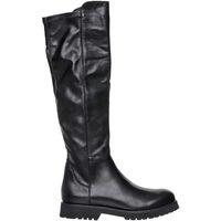 Scarpe Donna Stivali Lady Shoes Stivale In Pelle Nero