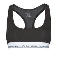 Biancheria Intima  Donna Brassiere Calvin Klein Jeans MODERN COTTON UNLINED BRALETTE Nero
