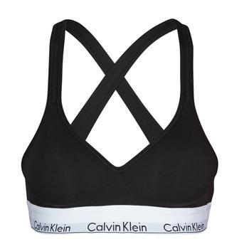 Biancheria Intima  Donna Brassiere Calvin Klein Jeans MODERN COTTON BRALETTE LIFT Nero