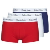 Biancheria Intima  Uomo Boxer Calvin Klein Jeans RISE TRUNK X3 Marine / Bianco / Rosso