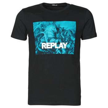Abbigliamento Uomo T-shirt maniche corte Replay M3412-2660 Nero / Blu