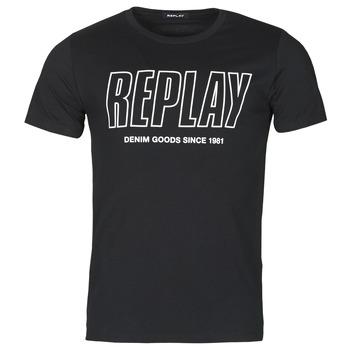 Abbigliamento Uomo T-shirt maniche corte Replay M3395-2660 Nero