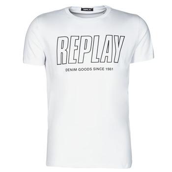 Abbigliamento Uomo T-shirt maniche corte Replay M3395-2660 Bianco