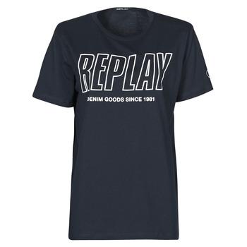 Abbigliamento Uomo T-shirt maniche corte Replay M3395-2660 Marine