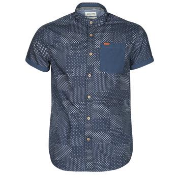 Abbigliamento Uomo Camicie maniche corte Deeluxe ETHNIC Marine