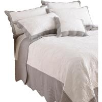 Casa Completo letto Riva Home 265 x 265 cm Bianco/Grigio
