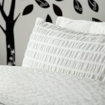Casa Federa cuscino, testata Belledorm Taille unique Bianco