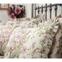 Casa Federa cuscino, testata Belledorm BM276 Avorio/Rosa/Verde