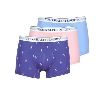 Biancheria Intima  Uomo Boxer Polo Ralph Lauren CLASSIC TRUNK X3 Rosa / Blu / Marine