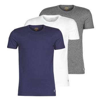 Abbigliamento Uomo T-shirt maniche corte Polo Ralph Lauren SS CREW NECK X3 Marine / Grigio / Bianco