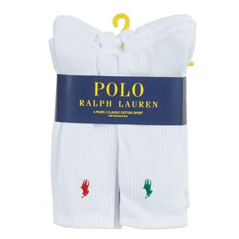 Biancheria Intima Uomo Calze sportive Polo Ralph Lauren ASX110 6 PACK COTTON Bianco