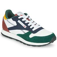 Scarpe Unisex bambino Sneakers basse Reebok Classic CL LTHR Bianco / Verde / Blu