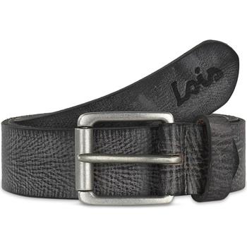 Accessori Uomo Cinture Lois Crack leather Nero
