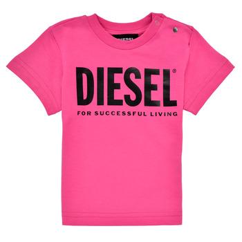Abbigliamento Bambina T-shirt maniche corte Diesel TJUSTLOGOB Rosa