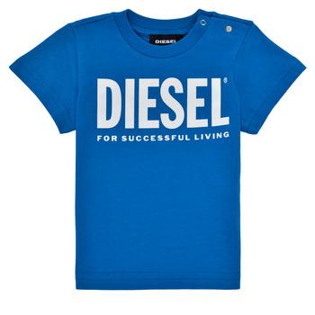 Abbigliamento Bambino T-shirt maniche corte Diesel TJUSTLOGOB Blu