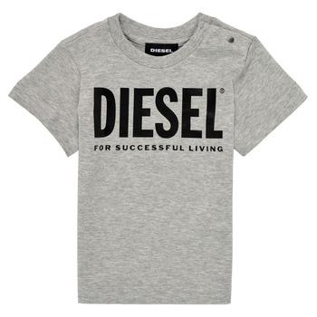 Abbigliamento Unisex bambino T-shirt maniche corte Diesel TJUSTLOGOB Grigio