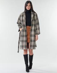 Abbigliamento Donna Cappotti Betty London NIOULOOK Nero / Beige