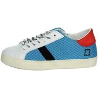 Scarpe Unisex bambino Sneakers basse Date J301 BIANCO/AZZURRO