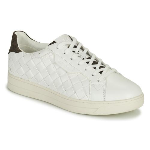 Scarpe Donna Sneakers basse MICHAEL Michael Kors KEATING LACE UP Bianco / Marrone
