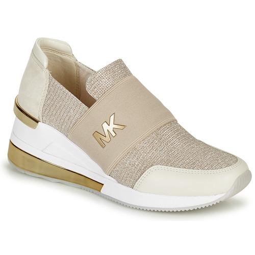 Scarpe Donna Sneakers basse MICHAEL Michael Kors FELIX TRAINER EXTREME Champagne