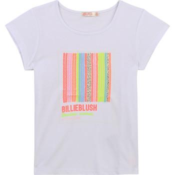 Abbigliamento Bambina T-shirt maniche corte Billieblush / Billybandit U15857-10B Bianco