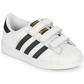 Scarpe Unisex bambino Sneakers basse adidas Originals SUPERSTAR CF C Bianco / Nero