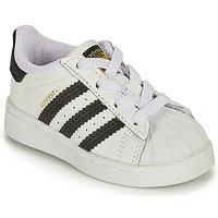 Scarpe Unisex bambino Sneakers basse adidas Originals SUPERSTAR EL I Bianco / Nero
