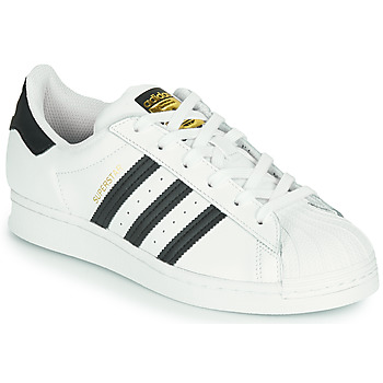 Scarpe Unisex bambino Sneakers basse adidas Originals SUPERSTAR J Bianco / Nero