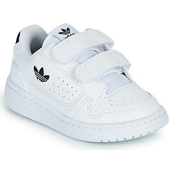 Scarpe Unisex bambino Sneakers basse adidas Originals NY 92 CF I Bianco / Nero