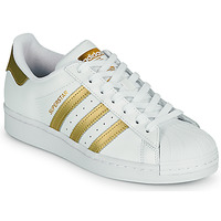 Scarpe Donna Sneakers basse adidas Originals SUPERSTAR W Bianco / Oro