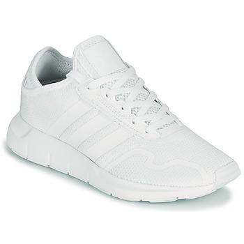 Scarpe Unisex bambino Sneakers basse adidas Originals SWIFT RUN X J Bianco