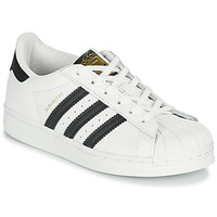 Scarpe Unisex bambino Sneakers basse adidas Originals SUPERSTAR C Bianco / Nero