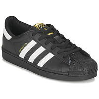Scarpe Unisex bambino Sneakers basse adidas Originals SUPERSTAR C Nero / Bianco