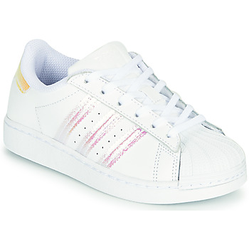 Scarpe Bambina Sneakers basse adidas Originals SUPERSTAR C Bianco
