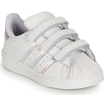 Scarpe Bambina Sneakers basse adidas Originals SUPERSTAR CF I Bianco